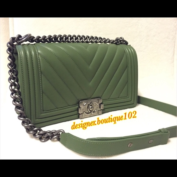6097dbd4a731 CHANEL Bags | Soldauthentic New Boy Green | Poshmark