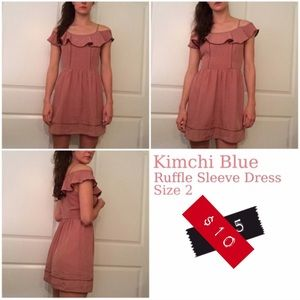 Kimchi Blue | Ruffle Sleeve Dress | Smoky Pink