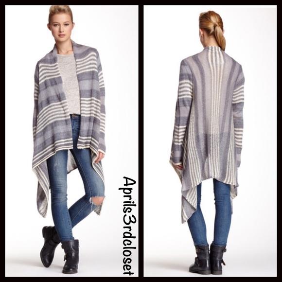 Poncho Cardigan Oversized Blanket Wrap Cape Style