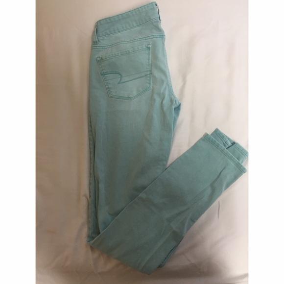 bd26eaf0bd8e American Eagle Outfitters Pants - Tiffany Blue AE jeans