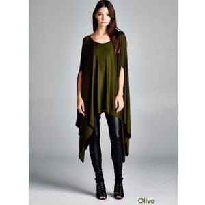 """Contemporary"" Loose Poncho Tunic"