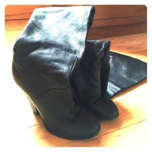 Aldo thigh high black boots