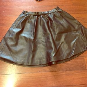 Flirty Faux Leather Skirt