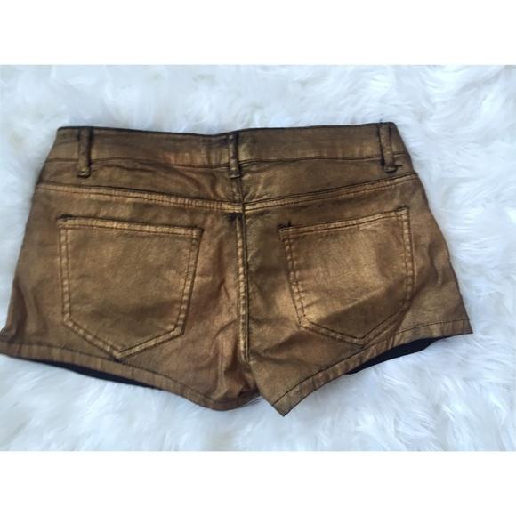 Forever 21 Jeans - Metallic gold denim shorts