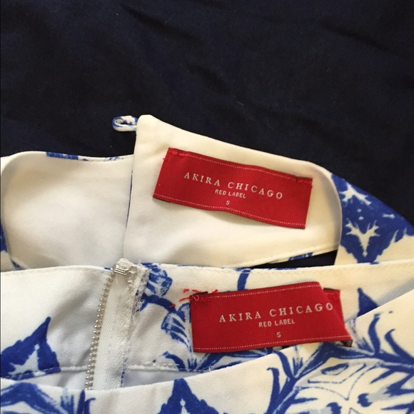AKIRA Pants - Akira blue & white 2 piece play suit with tags
