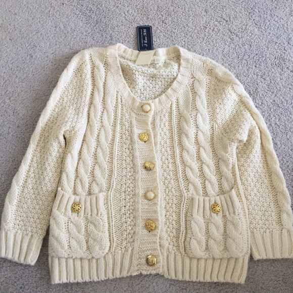 Heritage 1981 - Cream cable knit cardigan women's small from ...