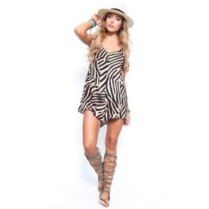somedays lovin animal print romper new with tags