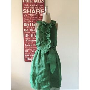 Robert Rodriguez Green Silk Dress