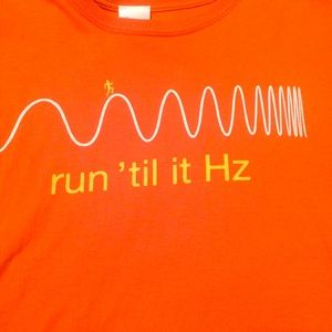 Funny athletic science shirt.