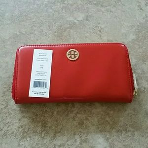 Tory Burch Handbags - Auth. Tory Burch red leather wallet