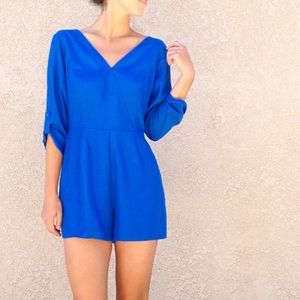 | new | cobalt blue romper