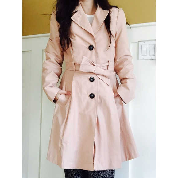 74% off H&M Jackets & Blazers - H&M Pink Trench Coat from