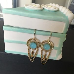 Accessories - Mint Blue Feather Earrings