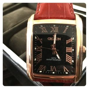 Croton vintage square watch with rose gold
