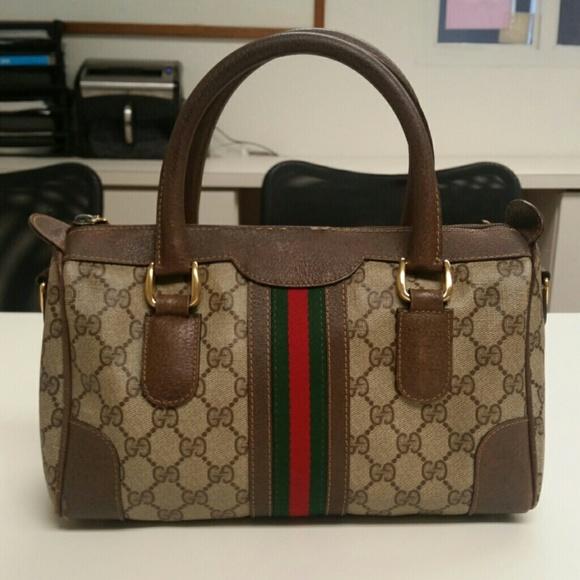 5aab3dbf74a Gucci Handbags - Authentic GUCCI Vintage Classic Stripes Speedy
