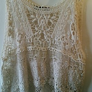 Tops - Beautiful Crocheted Lace Top