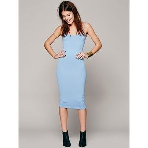 HP🎉🆕 Free People💎Tea Length Body Con Slip Dress