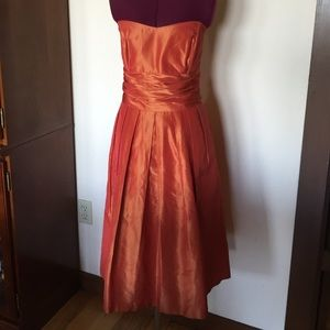 Anthropologie Dresses & Skirts - BHLDN Jenny Yoo Silk Orange Fall Autumn Dress