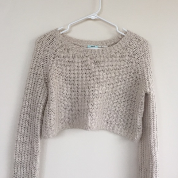 70% off Urban Outfitters Sweaters - cream cropped sweater from ...