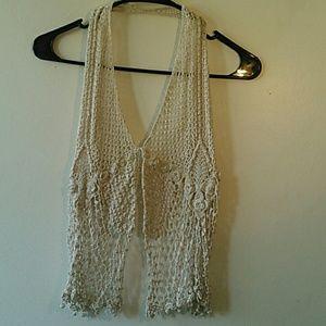 Tops - Backless Haulter Crochet Top