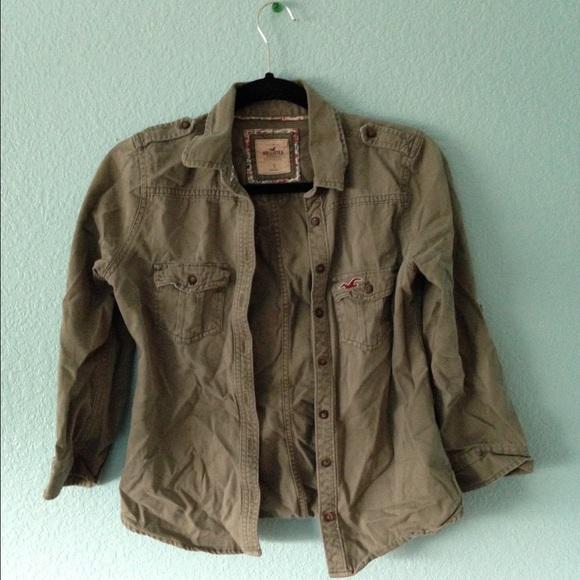 hollister green jacket