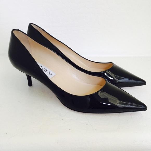 534c430d3f Jimmy Choo Shoes - Jimmy Choo Aza Kitten Heels Patent Pumps 36 NEW