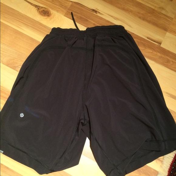 lululemon athletica mens black lulu shorts from nicole
