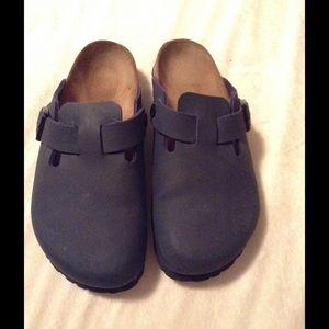 7fadb3e5fffb Birkenstock Shoes - Blue Boston Birki s Clogs💥SALE💥