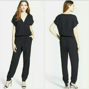 Olivia Moon Other - OLIVIA MOON Wrap Top Ankle Zip Jumpsuit