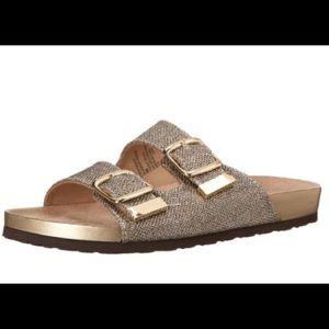 65555cdb19e9 White Mountain Shoes - NIB White Mountain Glitter Footbed Sandals Size 8