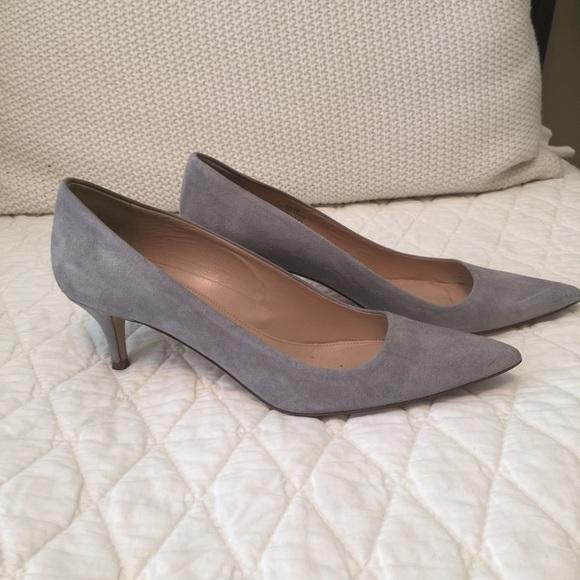 82% off J. Crew Shoes - J. Crew Dulce kitten heels in Mink (gray ...