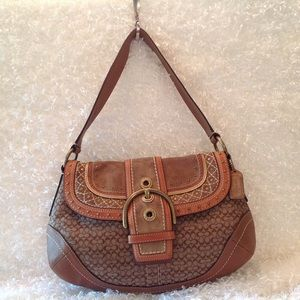 Coach Handbags - 💯 Authentic Coach Brown SoHo Handbag