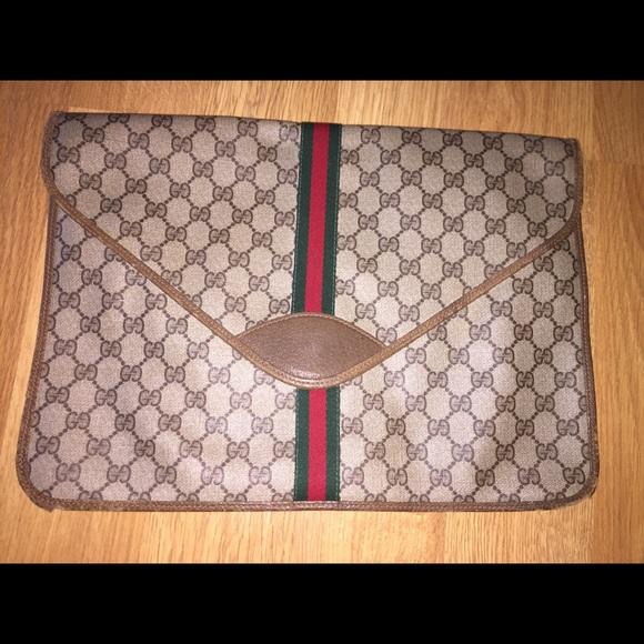4de6706fc6d4c5 Gucci Handbags - Vintage Gucci Clutch Monogram 1990's bag