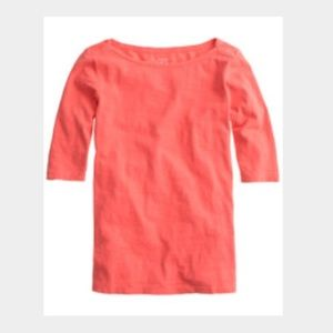 J. Crew Tops - Coral fitted JCrew painters tee