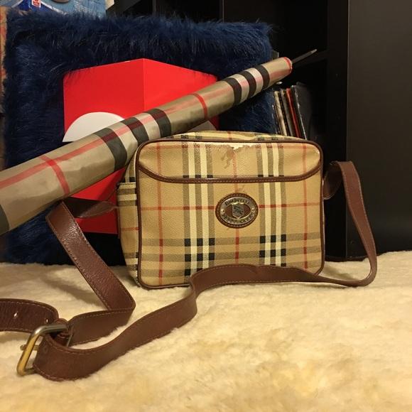 0215d27eb Burberry Handbags - Burberry Vintage Haymarket Crossbody Shoulder Bag