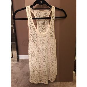 Wilfred Cream Lace Tank