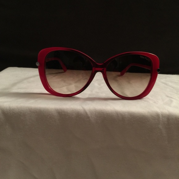 b2313a69f5 ... Tom Ford Accessories Authentic Linda Butterfly Red Sunglasses