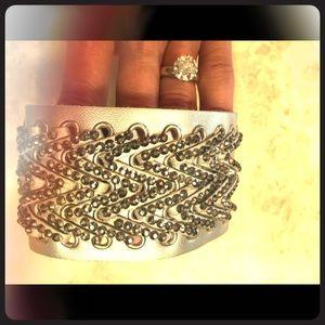 Jewelry - Silver leather bracelet