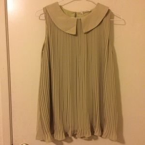 Tops - Pleated Green Top