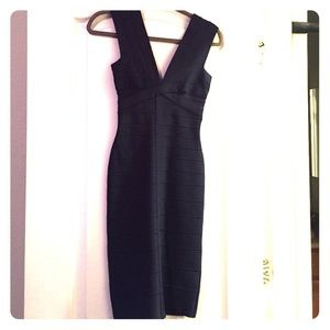 Navy Blue Herve Leger dress