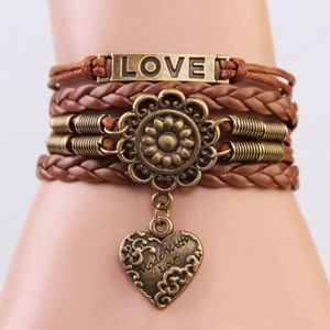 "Jewelry - Vintage boho ""made with love"" infinity bracelet OS"