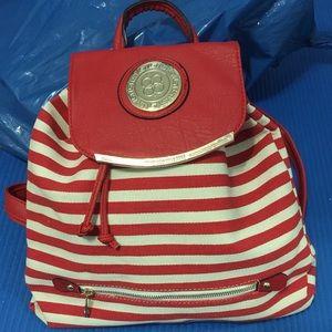 Red stripe backpack