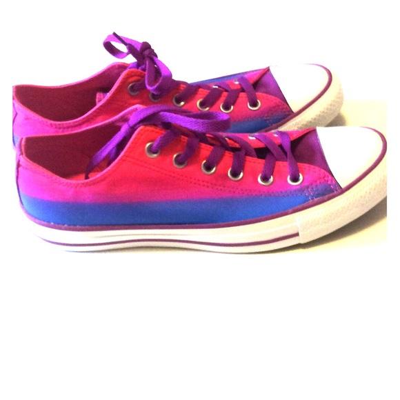 Converse Shoes - OMBRÉ BLUE PINK AND PURPLE CONVERSE. Nwot cd5c8fd1f8e7