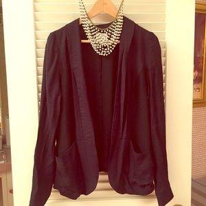 Slouchy black blazer