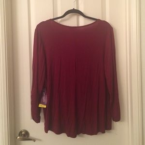 69dcb7ae2b Wet Seal Plus Tops - Plus Size Crossover Front Burgundy Blouse