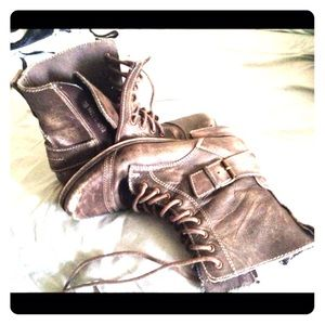 Brown Aldo Leather Boots