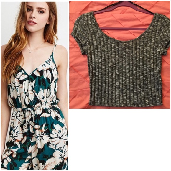 a327f301a98 Forever 21 Other - Forever 21 - Floral Jumper and Cropped Top