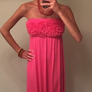 Neiman Marcus Dresses & Skirts - PRICE⬇️! 🆕 Pink Rosette Maxi Dress