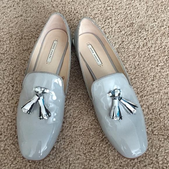 bb585b88740 Zara tassel loafer with silver block heel. M 55e5b12f4e8d17310e0195b3