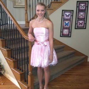 pink jessica mcclintock bow dress on Poshmark